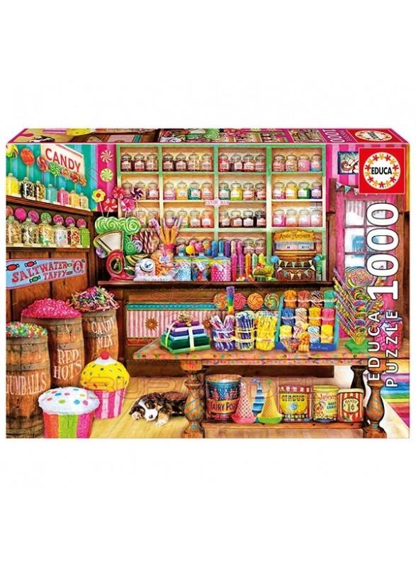 Puzzle Tienda de dulces 1000 piezas