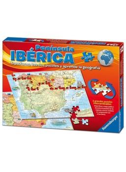 Puzzles 2x100 piezas mapa península Ibérica