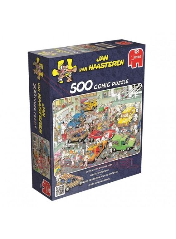 Puzzle 500 Piezas comic En el taller mecánico