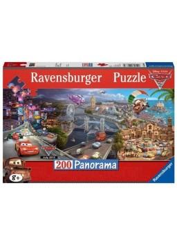 Puzzle en panorama 200 piezas Cars