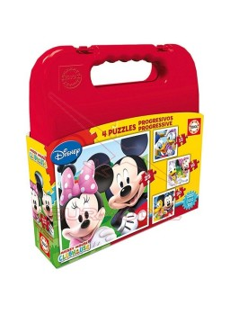 Puzzle progresivo Mickey Mouse en maleta