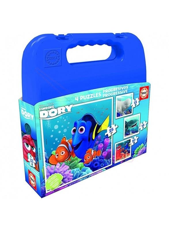 Puzzle progresivo Buscando a Dory en maleta