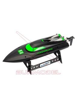 Lancha RC LRP Deep Blue Racing 340 negra y verde