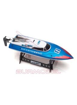 Lancha RC LRP Deep Blue Racing 340 azul y blanca