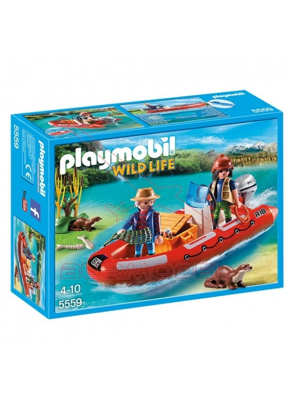 Playmobil Bote Hinchable con Exploradores