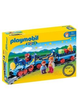 Playmobil 1.2.3 Tren con Vías