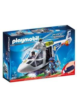 Playmobil Helicóptero de Policia con Luces LED