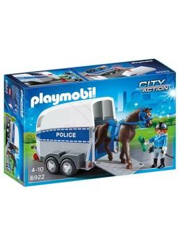Playmobil Policía con Caballo