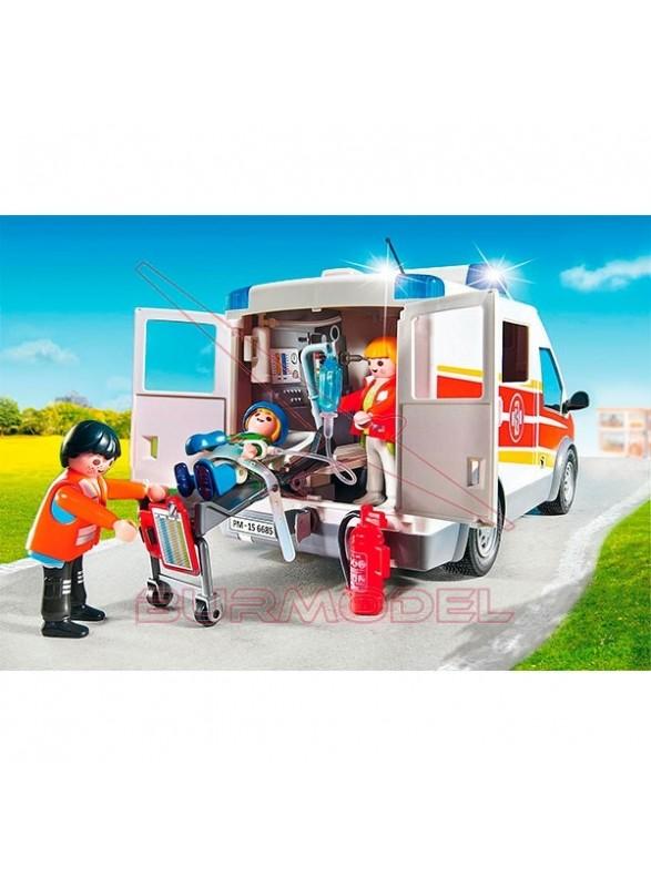 Playmobil Ambulancia con Luces y Sonido
