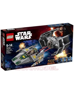 Lego TIE Advanced de Vader vs. A-Wing Starfighter