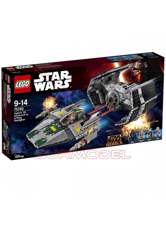 Lego TIE Advanced de Vader vs. A-Wing Starfighter