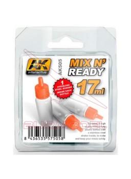 Botes de mezcla pintura 17ml c/ bola agitadora 6ud