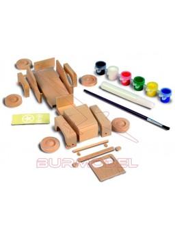 Maqueta de iniciación en madera vehiculo 4x4