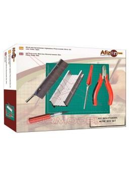 Set de herramientas Afizon con ingletadora