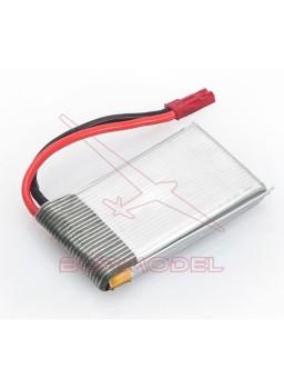 Batería 3,7v 1S 1000 Mah conector bec macho