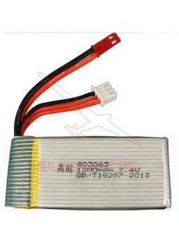 Batería LiPo 7,4V 1200mAh conector Bec drone x101