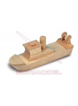 Maqueta de iniciación en madera remolcador