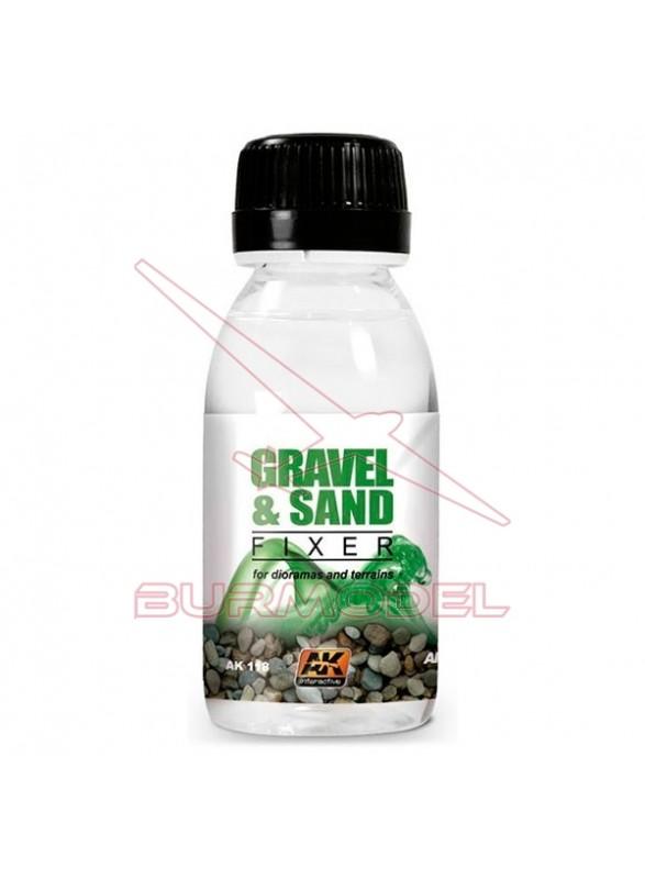 Fijador de arena y grava