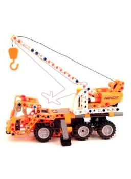 Bloque construcción camión grúa