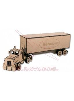 Maqueta en madera DM Camión Tráiler