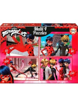 Multipuzzle 4 puzzles Ladybug