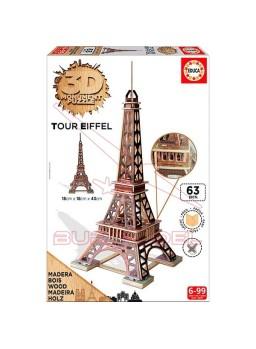 Puzzle Torre Eiffel 3D 63 piezas