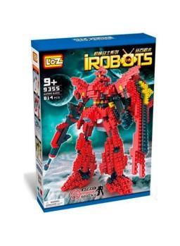Construcción irobots rojo 810 pzs LOZ