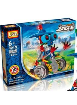 Robot con ruedas y motor 120 piezas