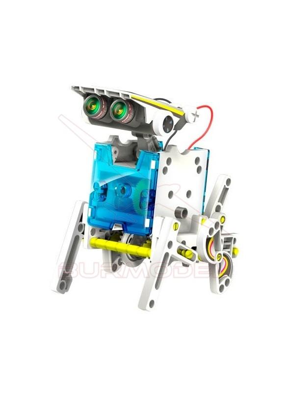 Construcción 14 en 1 multibots con placa solar