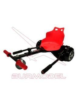 Asiento patinete Rojo/Negro