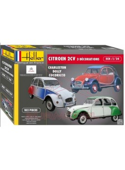 Maqueta Citroen 2CV decoraciones especiales 1:24