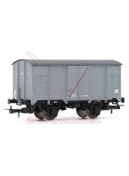 R.N Vagón cerrado sin freno H0