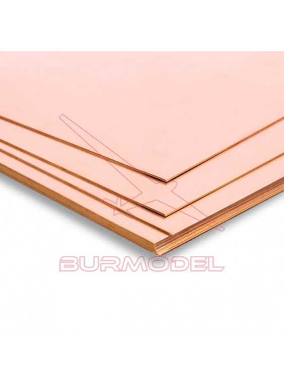 Plancha de cobre 400x200 mm 0,30