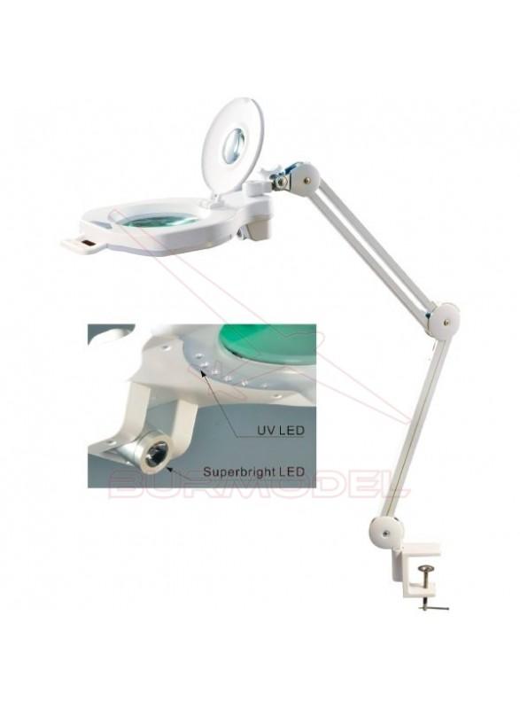 Flexo lupa 5D-20D triple luz regulable