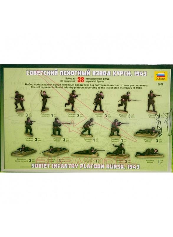Infantería soviética Kursk,1943 escala 1/72