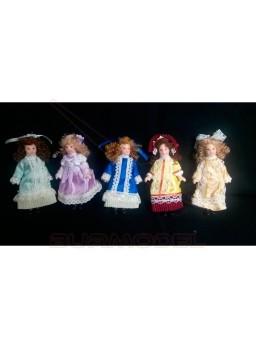 Chica de resina escala 1/12 para casas de muñecas