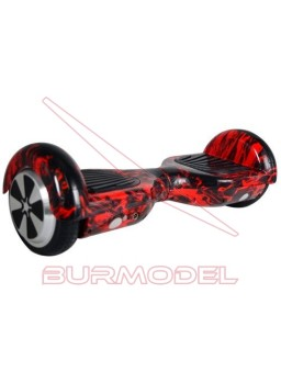 "Patinete Balance Scooter 6,5"" Rojo fuego bluetooth"