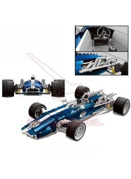 Construcción coche Blue Sonic con 1758 pzs