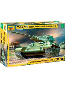Tanque T-34/76 (mod.1942) 113 piezas Zvezda 1/35