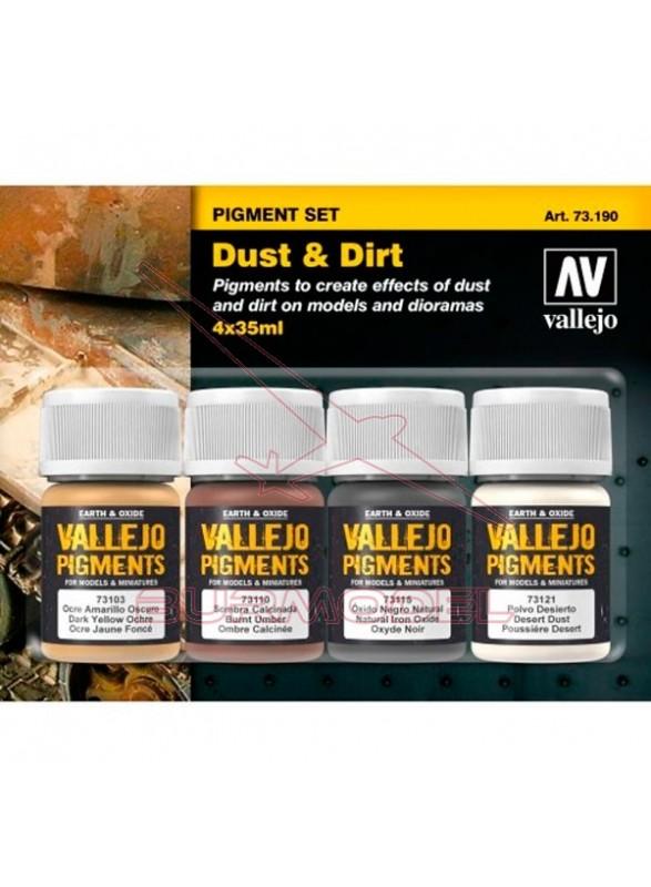Set pigmentos polvo y suciedad (4 x 35ml)
