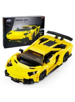 Coche deportivo amarillo para montar 834 pzs
