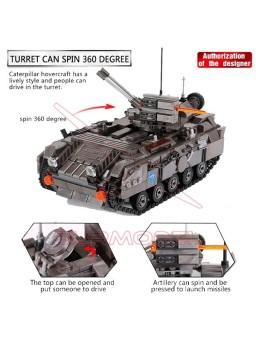 Construcción tanque militar 1049 piezas tipo LEGO