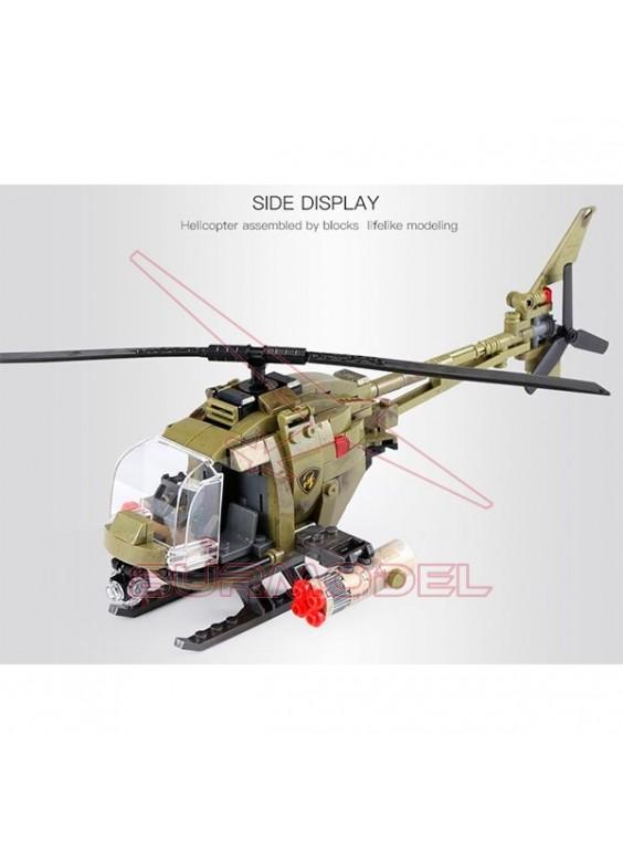 Construcción helicóptero 425 piezas tipo LEGO