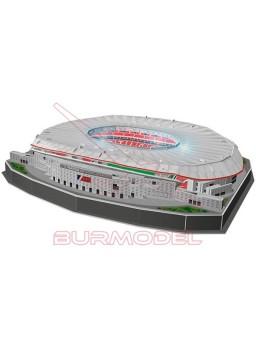Maqueta Wanda Metropolitano 3D con luz