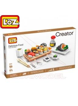 Kit de construcción comida Japonesa Sushi 1360pzs