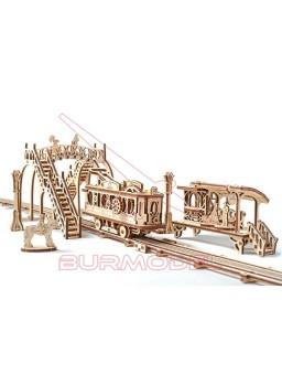 Maqueta madera Model Train line