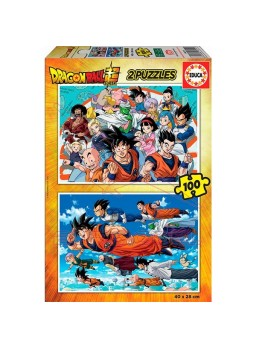 Set 2 puzzles 100 piezas dragon ball