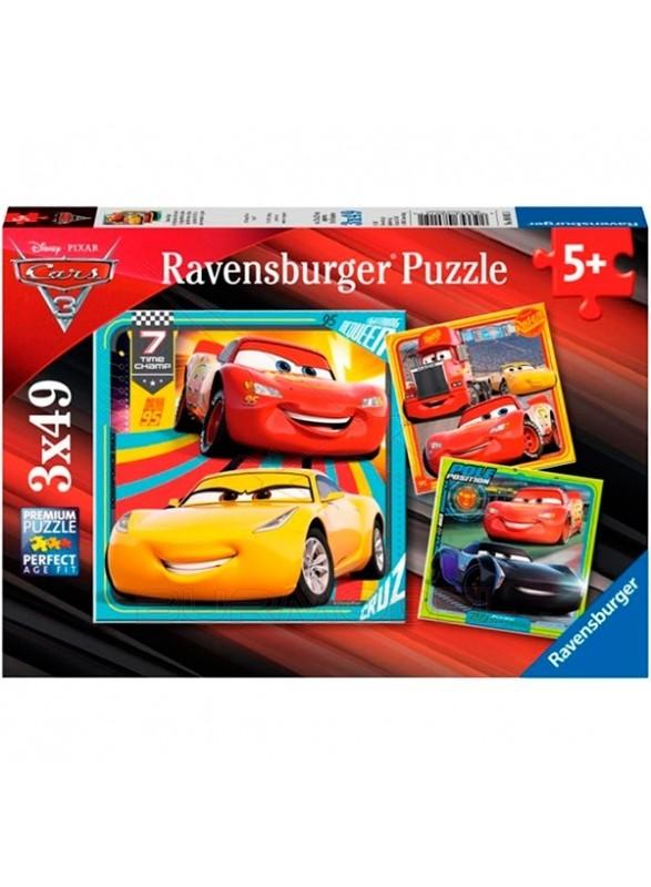 3 puzzles de 49 piezas Cars 3 Rayo McQueen