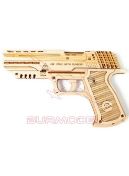 Maqueta de madera pistola Wolf-01