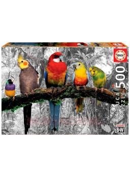 Puzzle 500 piezas pajaros en la jungla